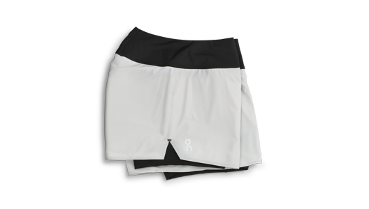 On Running Shorts Glacier | Black Damen