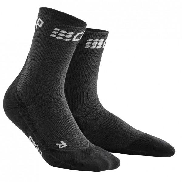 CEP winter short socks, women, grey/black Damen