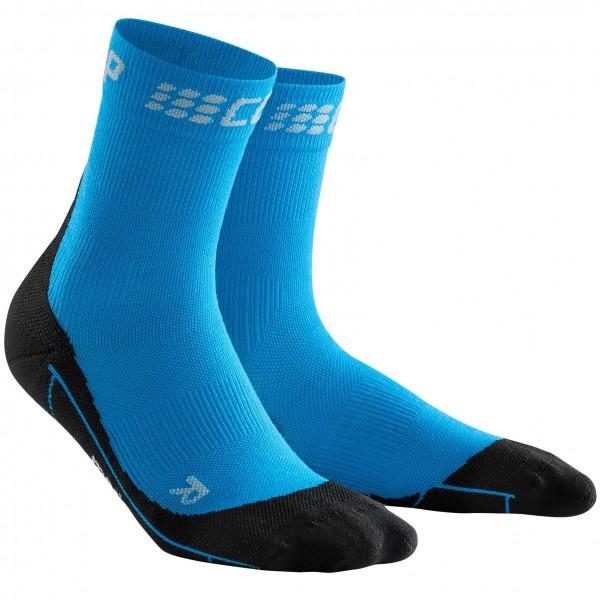 CEP winter short socks, women, electric blue/black Damen