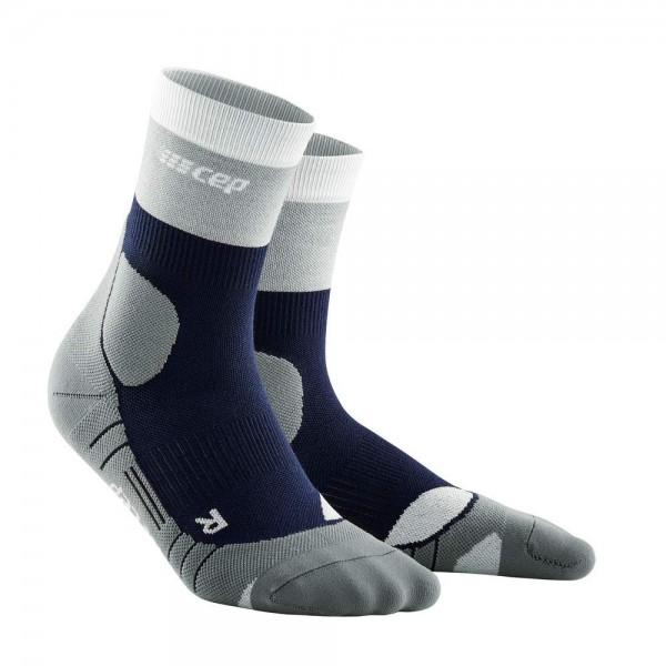 CEP hiking light merino mid-cut socks*, men, marineblue/grey Herren