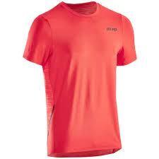 CEP run shirt, round neck, short sleeve, men, lava Herren