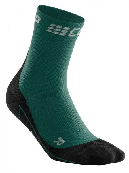 CEP winter short socks, men, green/black Herren
