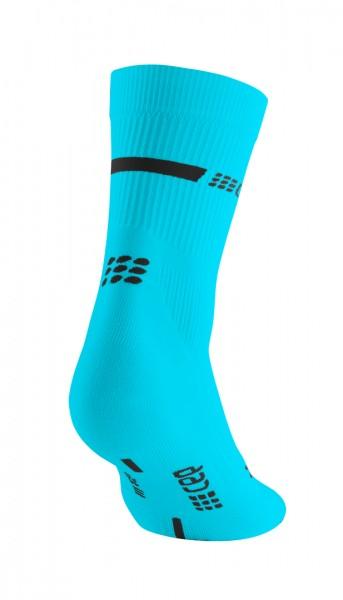 CEP neon mid-cut socks, women, neon blue Damen