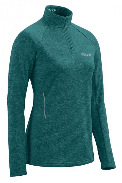 CEP winter run shirt, long sleeve, women, green melange Damen
