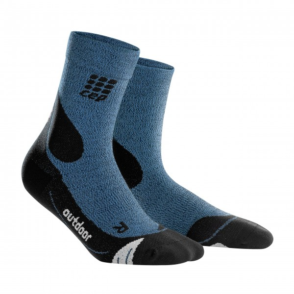 CEP dynamic+ outdoor merino mid-cut socks, men, desert sky/black Herren