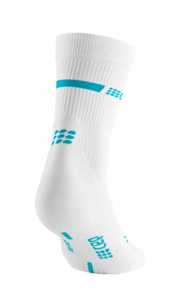CEP neon mid-cut socks, women, white/neon blue Damen
