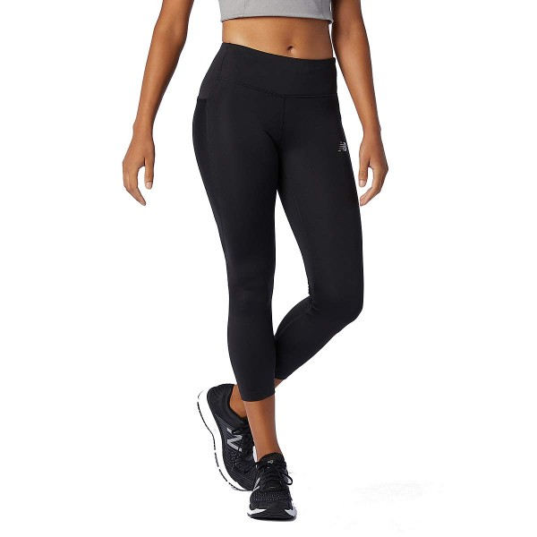 New Balance Impact Run Crop Lauftight Damen schwarz