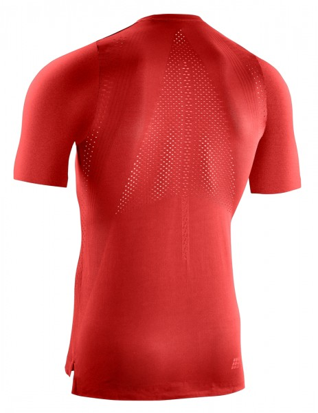 CEP run ultralight shirt, short sleeve, men, lava Herren