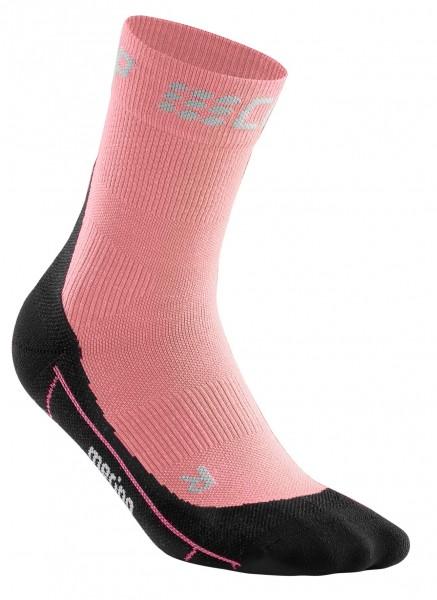 CEP winter short socks, women, light rose/black Damen