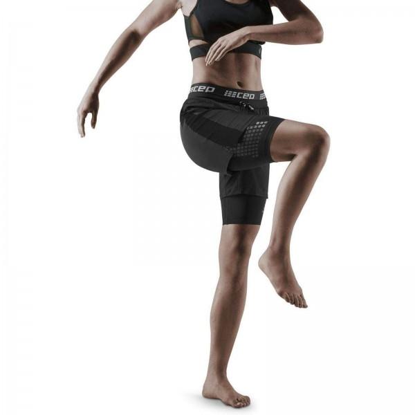 CEP – Training 2IN1 Shorts 3.0 für Damen | Kurze Trainingshose mit Kompression