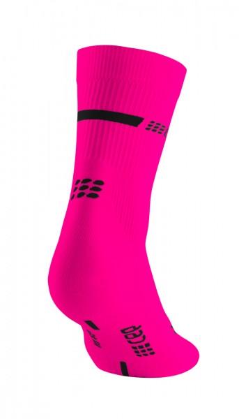 CEP neon mid-cut socks, women, neon pink Damen