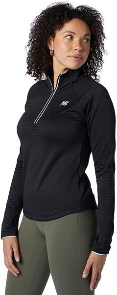 New Balance Damen 2021 Impact Run Heat Grid Feuchtigkeitstransport halber Reißverschluss Pullover
