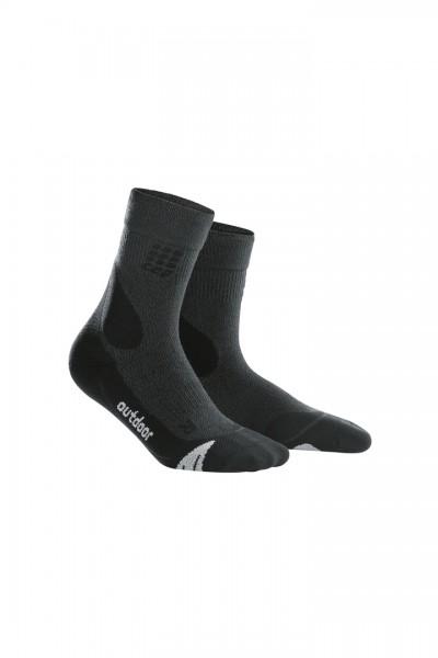 CEP dynamic+ outdoor merino mid-cut socks, women, grey/black Damen