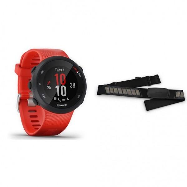 Garmin Forerunner 45 – GPS-Laufuhr mit umfangreichen Lauffunktionen, Trainingsplänen & Premium-Herzf