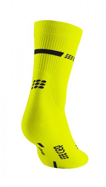 CEP neon mid-cut socks, women, neon yellow Damen
